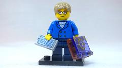 Brick Yourself Custom Lego Figure Smartly Dressed Boy with Fantasy Book & Phone