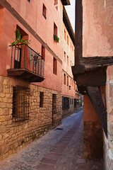 Colours of Albarracin (Jocelyn777) Tags: colours rose ochre pink stonehouses villages towns historictowns aragon albarracin spain travel
