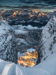 The window. (vegard.magnus) Tags: fenêtre window chamechaude chartreuse grenoble belledonne isère alpes alps moutains mountain snow neige trees arbres sunset colors orange micro four thirds 43 hybrid olympus panasonic em5markii em5 paysage landscape winter ski skiing lumix vario 14140