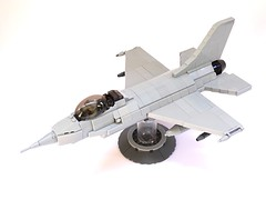 F-16 Fighting Falcon LEGO Model, 1:40 Scale (LuisPG2015) Tags: