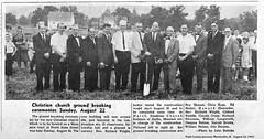 1965-08-26  First Christian Church Phase 1 Groundbreaking, Monticello, IL (RLWisegarver) Tags: piatt county history monticello illinois usa il