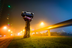 Trans Am Totem by Marcus Bowcott, foggy (colink.) Tags: falsecreek vancouverwandering foggy