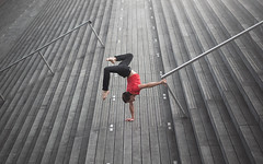 (dimitryroulland) Tags: nikon d600 paris france artist performer art fit fitness sport handstand balance hand stairs natural light gym gymnast