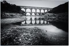 2017 Pont du Gard (jeho75) Tags: sony ilce 7m2 zeiss france frankreich provence aqueduct roman pont du gard schwarz weis black white historical architecture
