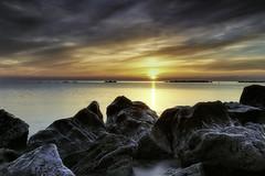 Dawn by the sea (Massetti Fabrizio) Tags: sea seascape sunrise sun sunlight sunset nikond4s 2470f28 lee landscape landscapes light red rosso rocks marche italia italy fabriziomassetti famasse