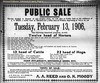 A.A. Reed Farm Sale Ad, Deland, IL 1906-02-06 (RLWisegarver) Tags: piatt county history monticello illinois usa il