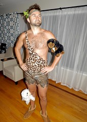 DSCN0058 (danimaniacs) Tags: party costume shirtless hunk hot sexy man guy mansolo smile beard scruff