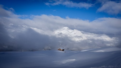 Lonely House at the alpes