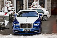 Rolls-Royce Wraith (Nico K. Photography) Tags: rollsroyce wraith blue white lancia delta integrale combo switzerland supercars luxury snow nicokphotography stmoritz