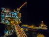 Oil Rig (Craig Hannah) Tags: oilrig gas offshore night northsea oil ship boat vessel pipes crane craighannah january 2018 scotland uk industry industrial lights sea platform work