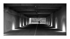 Lonely tunnel (autoworks31) Tags: fujixpro1 fuji23mm fujifilm tunnel photography blackandwhite bnw