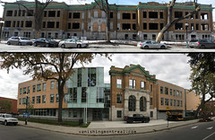 Before / After : Baril school (Vanishing Montréal) Tags: history villedemontreal montreal histoire photography art architecture demolition disappearinghistory newconstruction