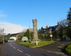 Contin War Memorial, Contin, Ross - shire, Nov 2017 (allanmaciver) Tags: contin war memorial corner junction blue sky village central road remember lest we forget style unique gaelic english 1914 1918 1939 1945 world service country respect allanmaciver