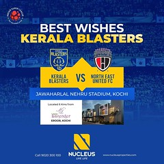 Wishing Kerala Blasters all the best for their match against NorthEast United FC in the ISL- Indian Super League Season 4.   #KeralaBlasters #KBFC #IniKaliMaarum  #KERNEU #LetsFootball   #India  #Architecture #Home #City #Elegance #Environment  #Beautiful (nucleusproperties) Tags: apartment nature life keralablasters beautiful architecture interior design elegance style environment kbfc letsfootball exquisite view inikalimaarum lifestyle india kerneu luxury villa comfort city atmosphere home