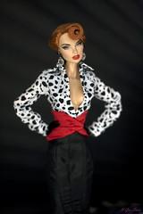 Vanessa Perrin Flame Bleue. (U-Gin Starr) Tags: fr fashiondolls fashion fashionroyalty vanessa perrin