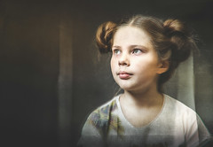 Vintage portrait (svklimkin) Tags: portrait girl vintage retro look young hairstyle people