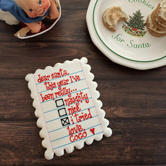 Letter to santa cookie (sagodlove) Tags: christmascookies heart baked indecorated sugar cookiesheart inwinter cookiesholiday cookiesletter santaletter santa cookienaughty or nice triedchai snickerdoodleschai snickerdoodle cookies