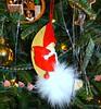 Santa, sitting on the Moon (Lynn English) Tags: ornament tree santa moon ribbet