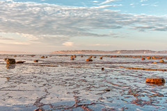 Rubble and lace (JustAddVignette) Tags: australia clouds collaroy dawn headlands landscapes longreef longreefpointbeach lowtide newsouthwales northernbeaches ocean rocks seascape seawater sky sunrise sydney water