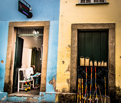 Yellow Blue (AndressaNowasyk) Tags: salvador bahia brazil pelourinho street art sell