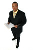 Business Man in Black Suit (Web Solultions Online) Tags: handsome cute male business office service suit profession standing dressed professional african american black man men young adult people person overwhite isolated isolation holding paper file contract deal customer businessman businessmen sales rep representative church