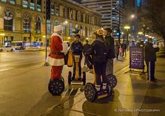 Modern Santa don't need reindeer anymore  :( (Natasha J Photography) Tags: chicago santa segway winter millenium parkstreet photography people