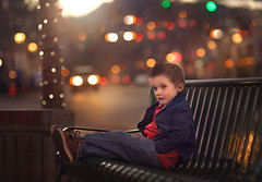 Soaking it all in! (lindseym35) Tags: bench lifestyle winter colorado estespark city magical colors lights bokeh mountains sunset