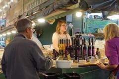 DSC08208 (David Housewright) Tags: woman pikeplacemarket vinegar seattle
