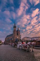 Krakow old town square (Vagelis Pikoulas) Tags: krakow poland old town sky clouds cloudy cloud canon 6d tokina 1628mm travel landscape city cityscape colors november autumn 2017