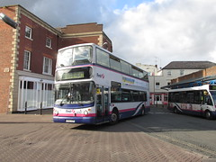 32067, Worcester, 14/09/17 (aecregent) Tags: worcester 140917 first firstworcester firstmidlandred volvo b7tl alx400 32067 kp51vzr