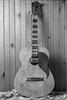 Homebuilt electric guitar (Howard Sandler (film photos)) Tags: guitar film blackandwhite franka rolfix foldingcamera german 6x9 schneider radionar delta
