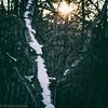 Lined with snow (bratli) Tags: ravine blackmud edmonton alberta sunset
