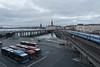 Slussen - Stockholm, Sweden (rmoutinho) Tags: clouds sky slussen bridge city gamlastan water train bus sweden stockholm