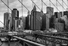Caged City (tazdir_photography) Tags: ny nyc nycity winter winterinnyc newyork newyorkcity black blackandwhite blackandwhitephotography city cityscape manhattan beautifulcity bridge brooklynbridge sky cloud clouds cityphotography cityskyline building buildings