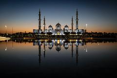 Abu Dhabi, United Arab Emirates (gstads) Tags: abudhabi uae unitedarabemirates emirates architecture mosque islam muslim islamic reflection sunset reflecting minarets minaret sheikhzayed sheikhzayedmosque dusk