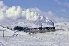 V700_4_630 (Bingley Hall) Tags: transport train transportation trainspotting rail railway railroad locomotive engine china asia tianzhu freight snow steam qj 2102 winter kodachrome qinghe