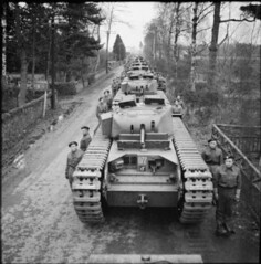 "Line-up of Churchill Mk II tanks • <a style=""font-size:0.8em;"" href=""http://www.flickr.com/photos/81723459@N04/39573013451/"" target=""_blank"">View on Flickr</a>"