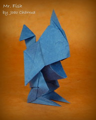Mr. Fish by Joao Charrua (Thomas Krapf Origami) Tags: joao carrua fish fisch origami paper papier folding falten drawingorigami 2