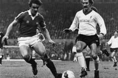 United 0 Liverpool 0, 26-12-80 (scherbenMUFC.2) Tags: manchester united old trafford kstand scoreboard paddock kevin moran mike duxbury arthur albiston terry mcdermott david johnson alan hansen ray clemence