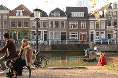 Utrecht, Netherlands (katelyn krulek) Tags: travel traveling travelling travels europetravel study abroad flickr exploring explore exploremore utrecht netherlands netherlandstravel utrechtnetherlands city urbanexploring urban canal dutchcanals dutch woman sitting bicycling people