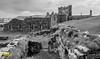 Peel Castle (B&W), Isle of Man. UK (staneastwood) Tags: isleofman im castlel stonewall stonework tower ruin staneastwood stanleyeastwood