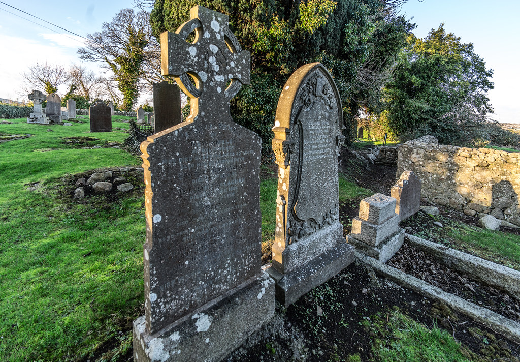 ANCIENT CHURCH AND GRAVEYARD AT TULLY [LAUGHANSTOWN LANE NEAR THE LUAS TRAM STOP]-134569