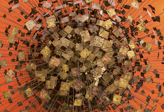 Sculpture Group Symbolizing World's Communication in the Atomic Age (jtgfoto) Tags: approved smithsonianamericanartmuseum nationalportraitgallery art museum artwork washingtondc dc washington sonyimages sonyalpha sculpture gallery harrybertoia contemporaryart modernart 1959 brass bronze communication