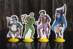 Batman Vinyl Playcase - Some Villains ( Ideal 1973 ) (Donald Deveau) Tags: ideal playset playcase batman robin dccomics villain penguin riddler thejoker catwoman toys toyphotography vintagetoy cardboard