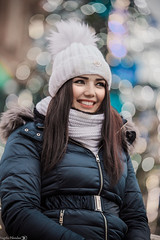 Portrait (Vagelis Pikoulas) Tags: portrait poland polish girl woman beauty beautiful canon 6d tamron 70200mm vc f28 november autumn 2017 christmas colours lights bokeh krakow