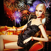 Happy New Year! (Deejay Bafaroy) Tags: fashion royalty fr integrity toys erin erinsalton 24k doll puppe barbie portrait porträt blonde blond happynewyear 2018