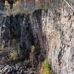 Quarry at Llwyn Hir forest near Draethen