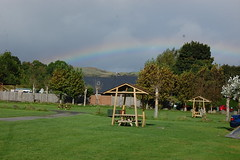 Rainbow at Tyn Cornel (basswulf) Tags: bala tyncornel campsite camping rainbow d40 1855mmf3556g lenstagged unmodified 32 image:ratio=32 permissions:licence=c 20160908 201609 3008x2000 wales uk