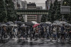Red umbrella (karinavera) Tags: city photography urban ilcea7m2 tokyo street rain umbrella people walking redumbrella