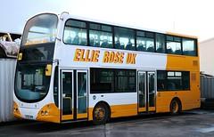 Ellie Rose Travel UK, Saltend, Hull LF52UPD at Tower House Lane Depot. (Gobbiner) Tags: ellierose lf52upd wrightbus hull eclipsegemini b7tl volvo vlw91 arriva london